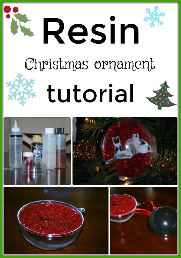Photo Christmas ornament - Resin Obsession