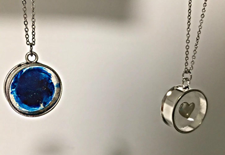 open backed resin pendants