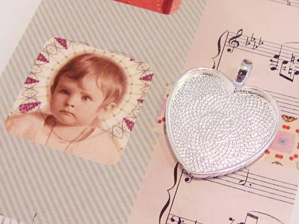 pendant with baby image