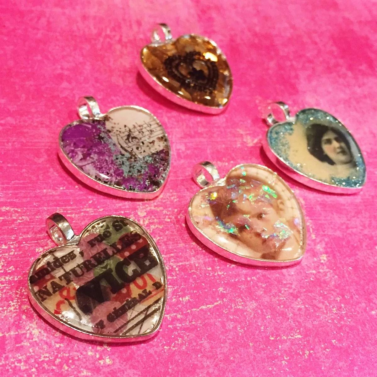ICE resin pendants