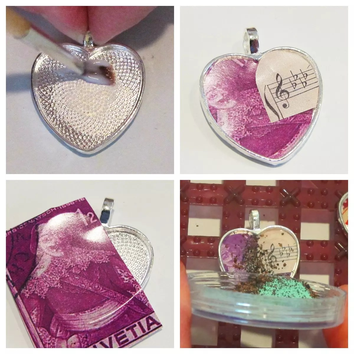 ice resin iced enamels pendant
