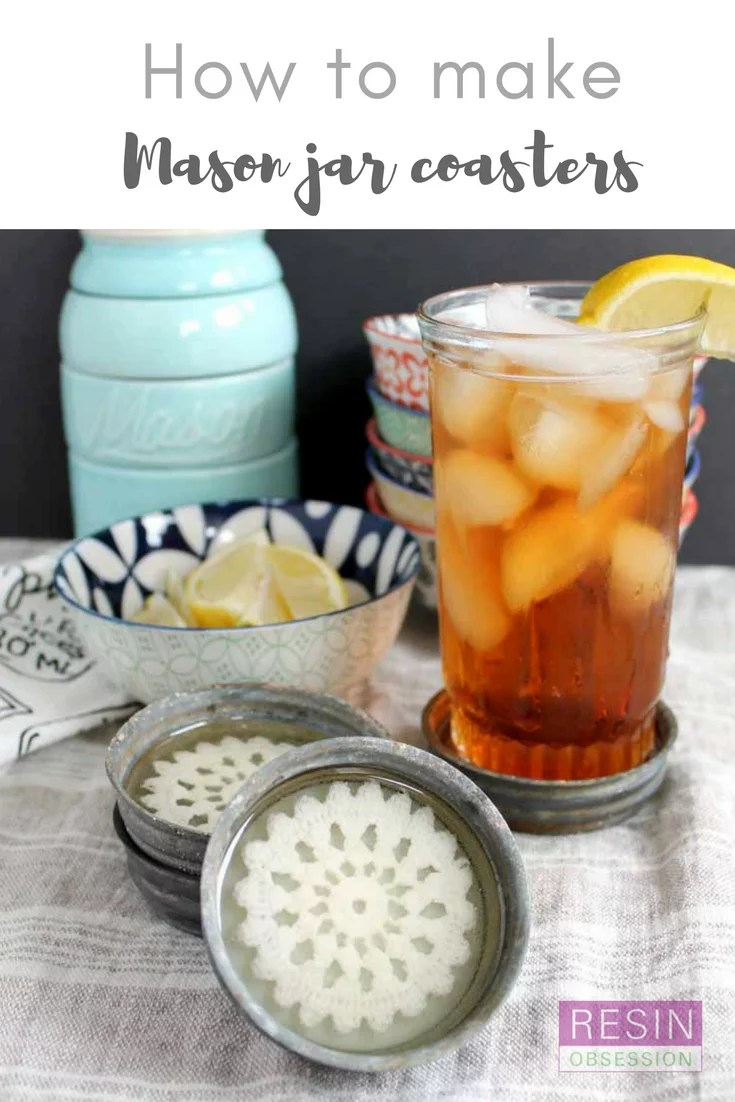 mason jar coasters DIY