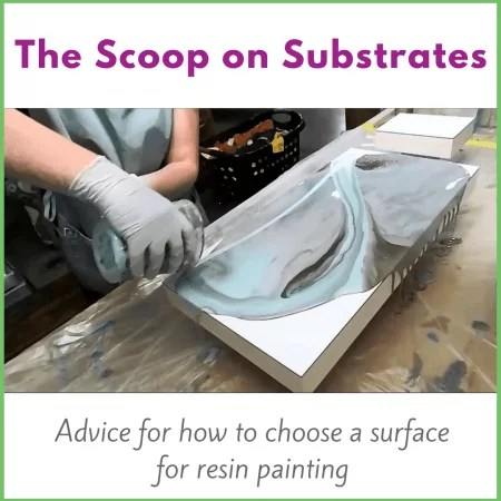 Surfaces for resin artwork