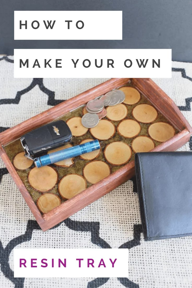 how to make your own resin tray