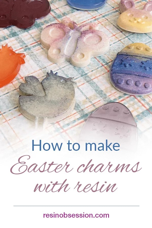 Easter charms with resin