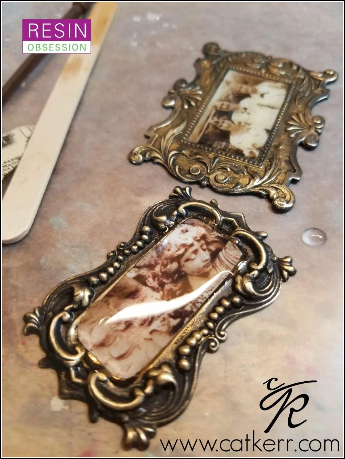 resin in metal frames