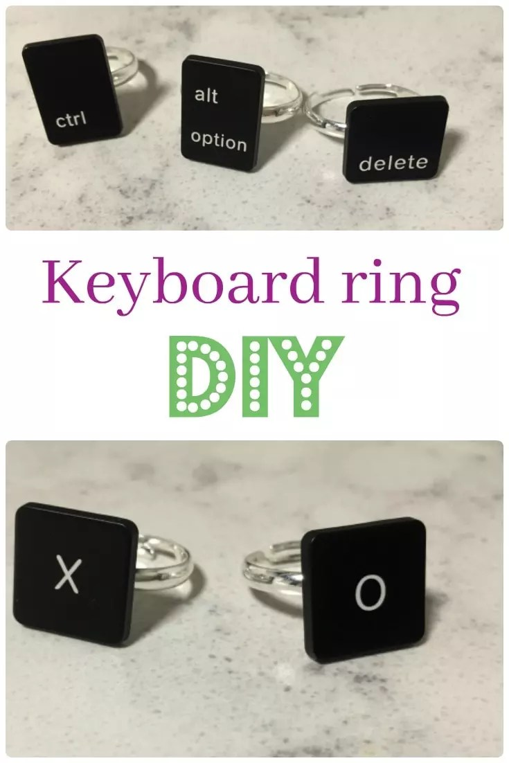 keyboard ring diy