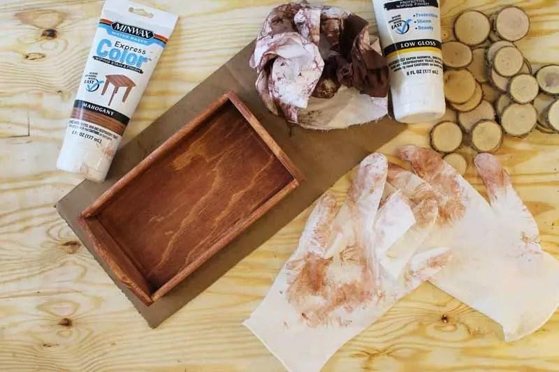 wood slice tray