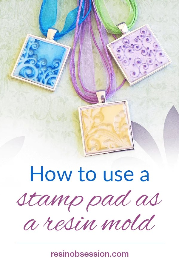 stamp pad resin molds