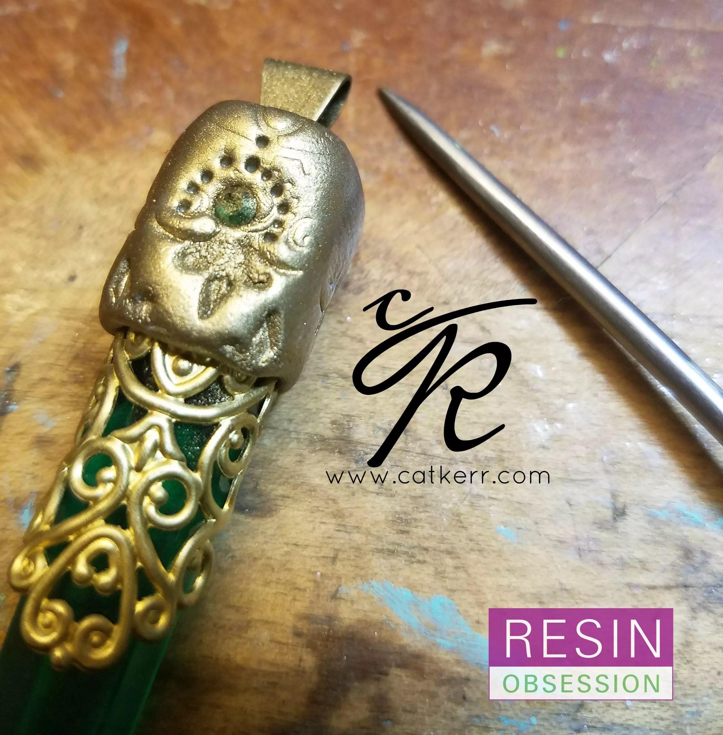 adding patina to jewelry clay
