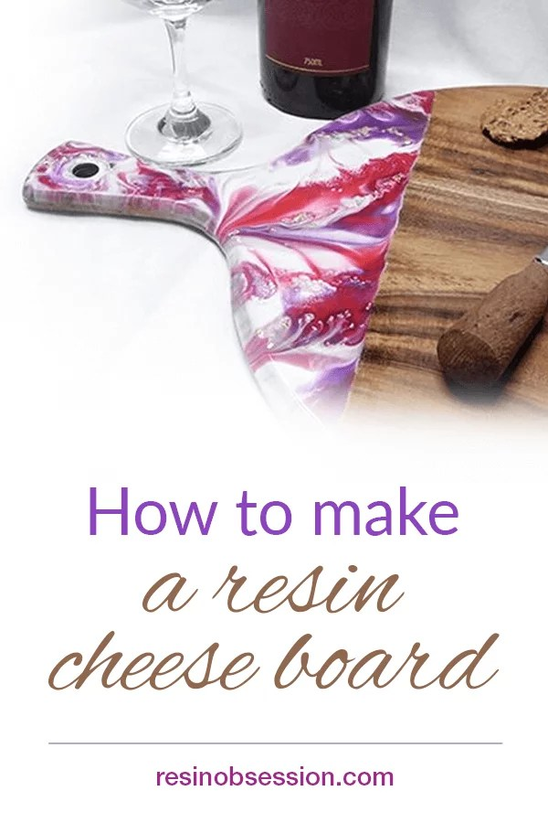 Resin painting cheese board