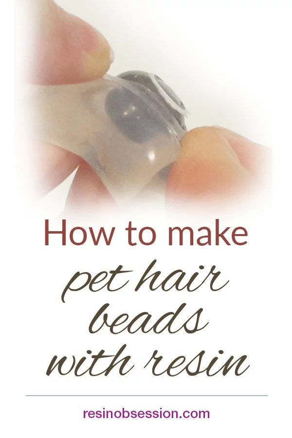 pet hair beads with resin