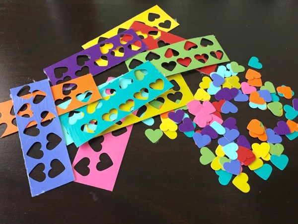 pile of punched out hearts