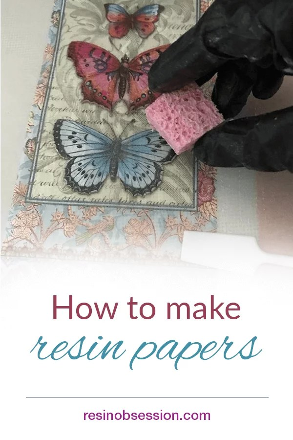How to make resin papers