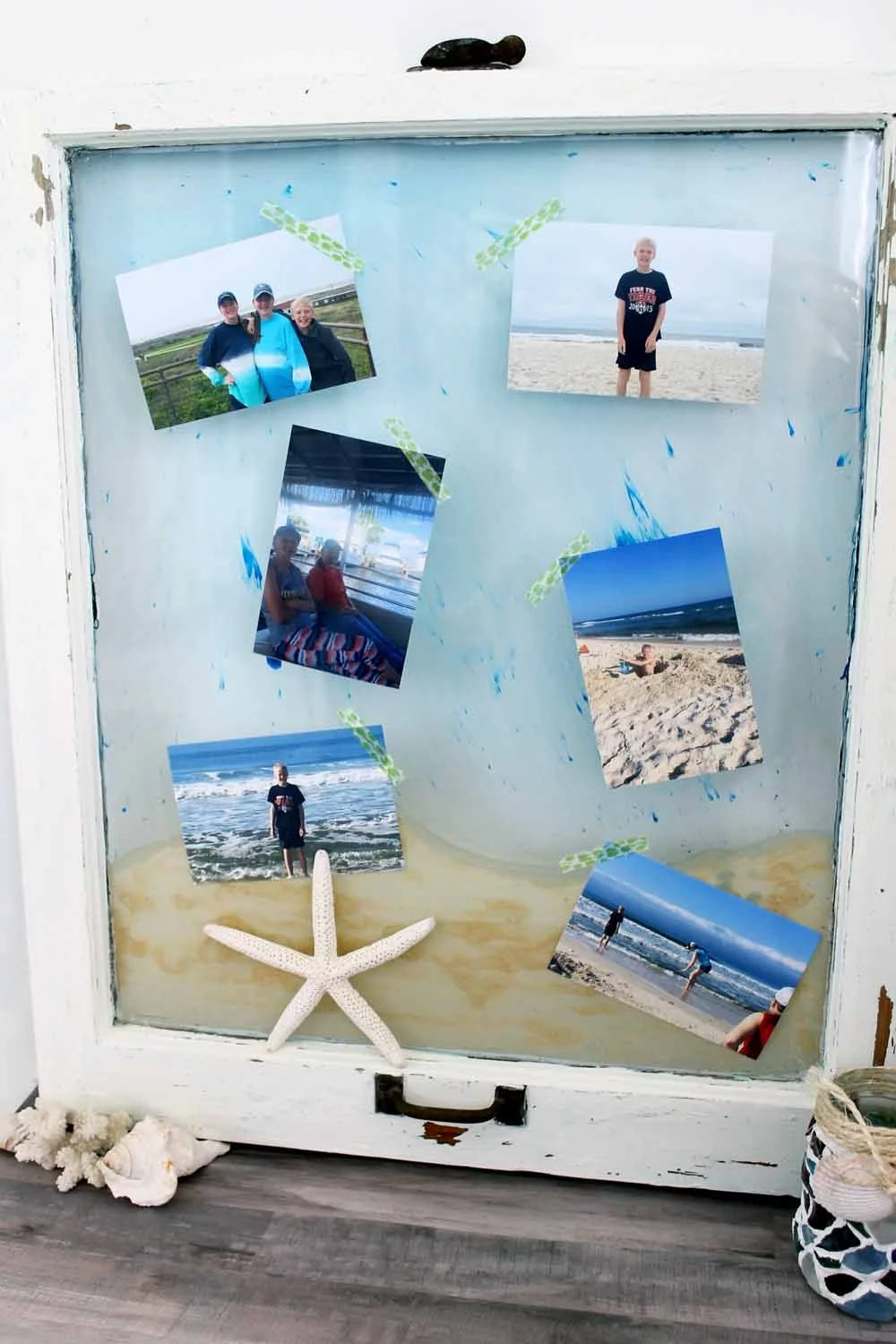beach picture display window