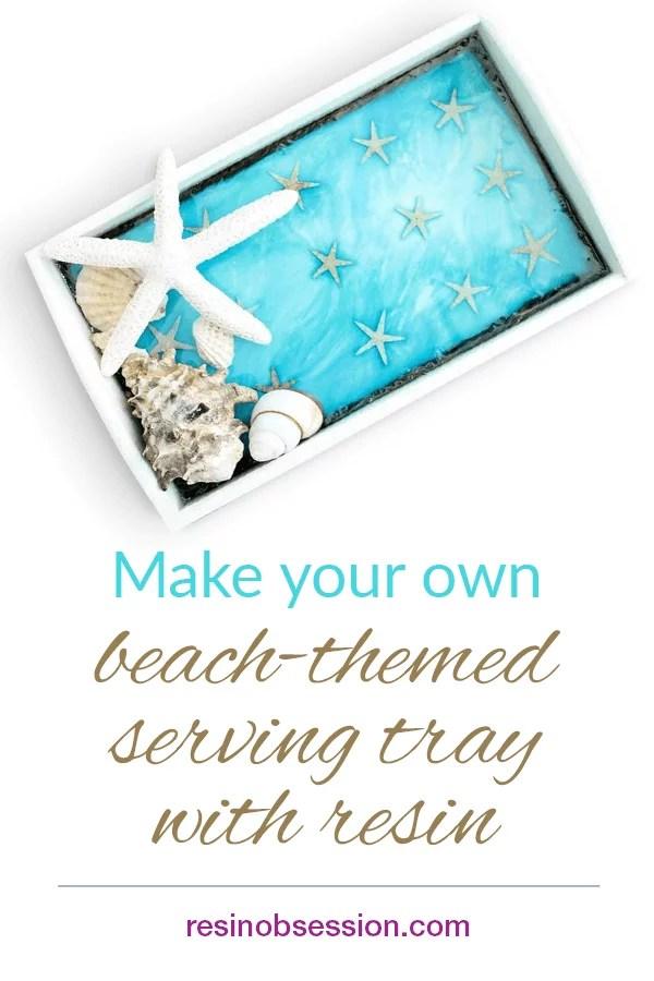 Decorative beach tray