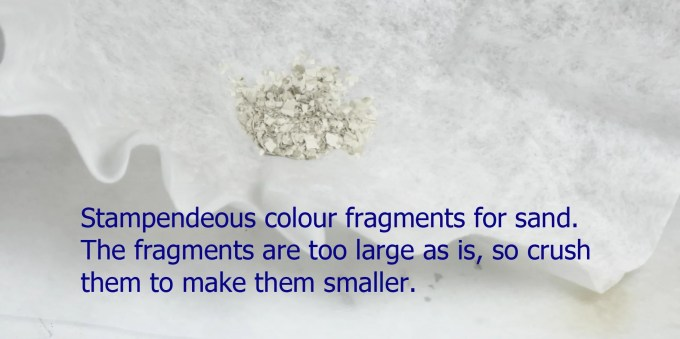 fragments for coloring resin
