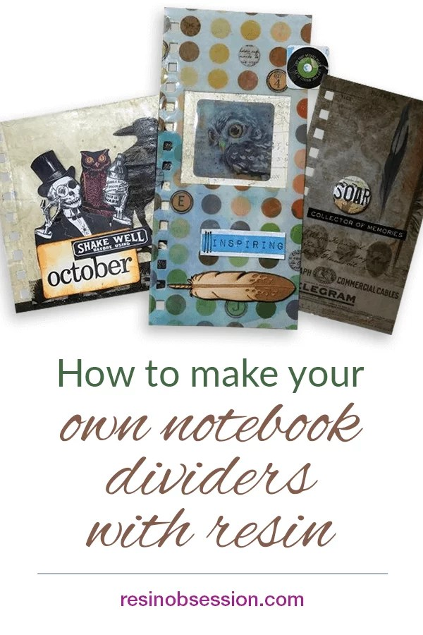 Make your own notebook dividers