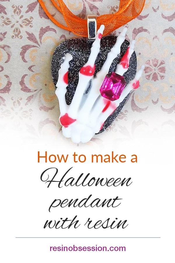 Halloween resin pendant
