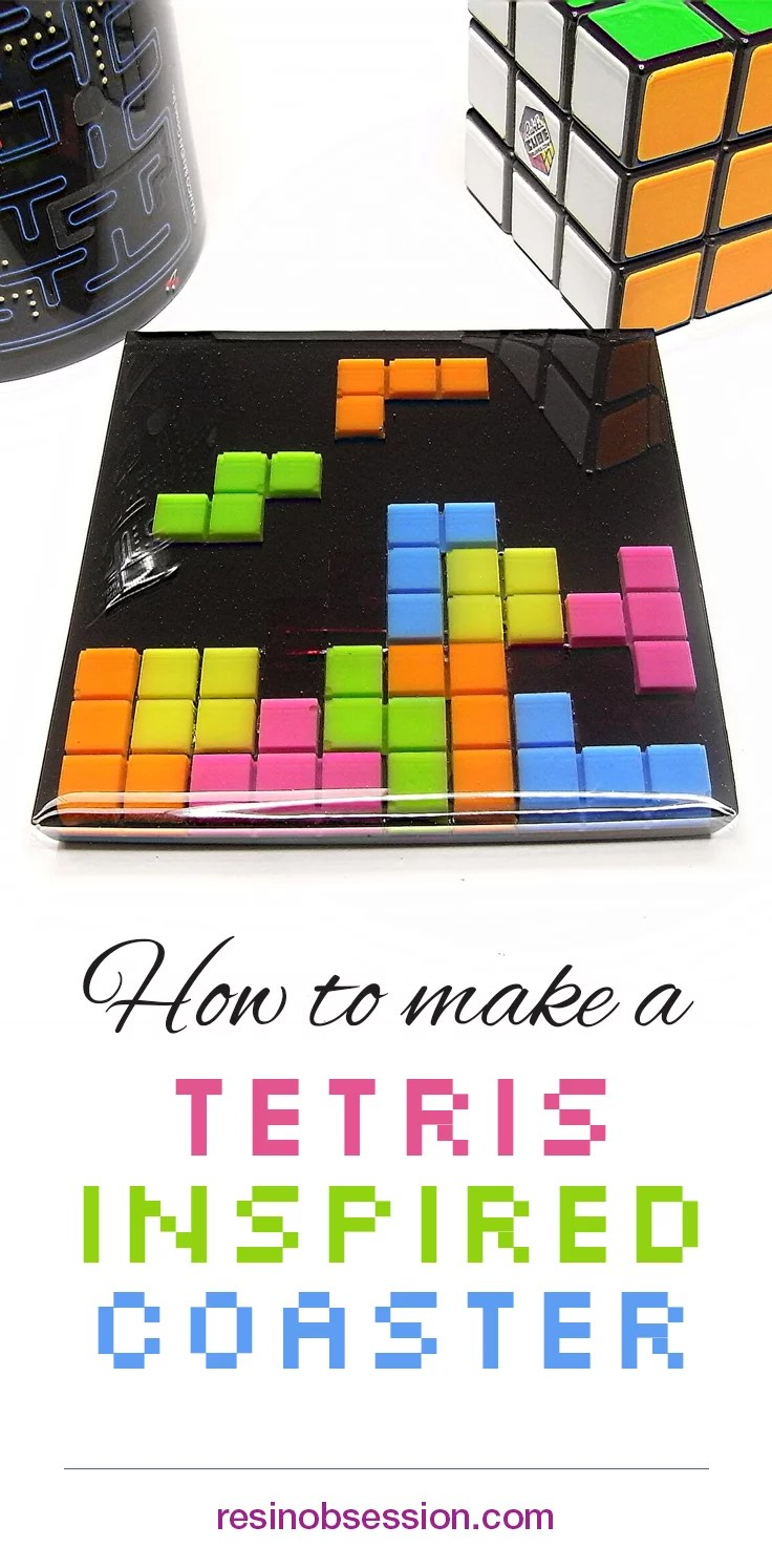 How to make a Tetris inspired resin coaster
