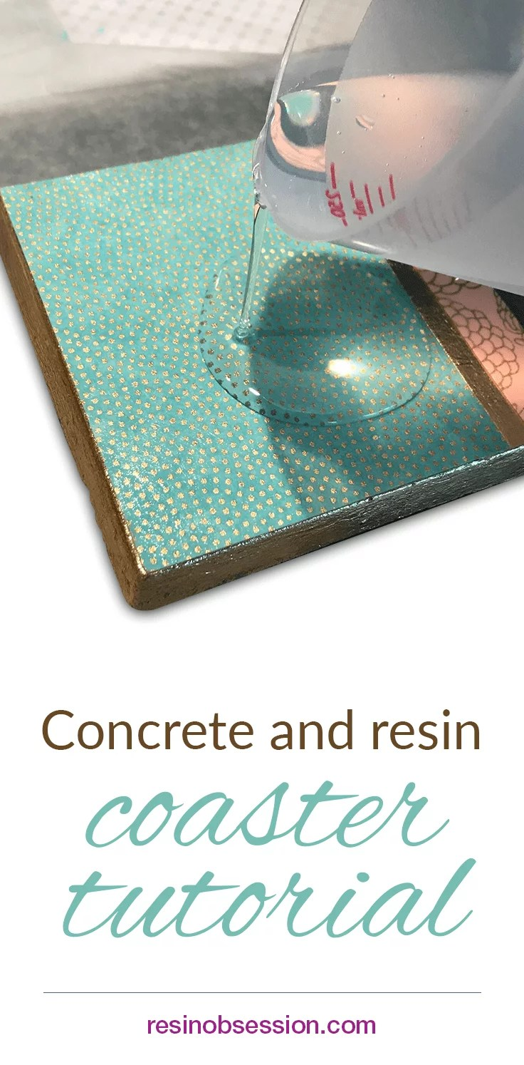 Concrete and resin coaster tutorial resin obsession for How to make concrete coasters