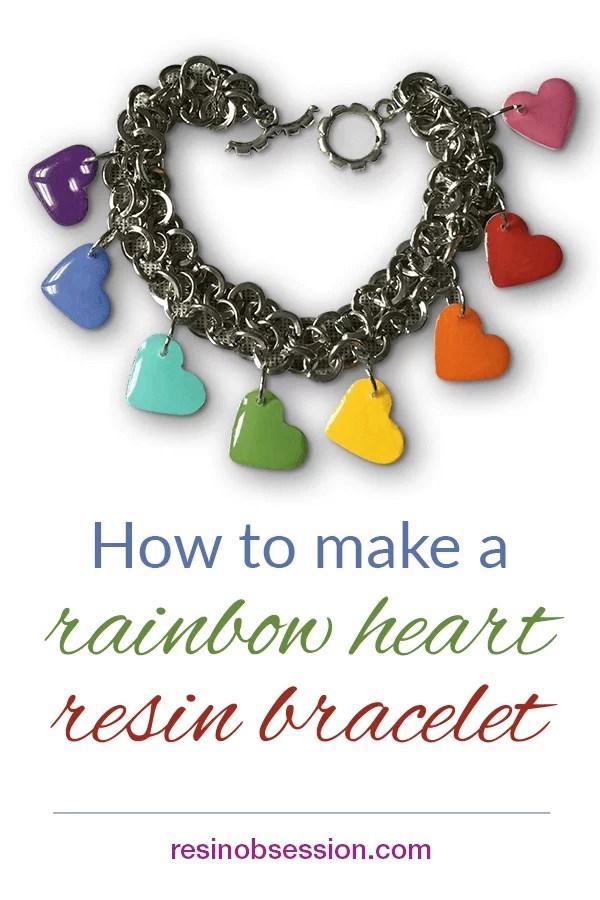 Rainbow resin bracelet DIY
