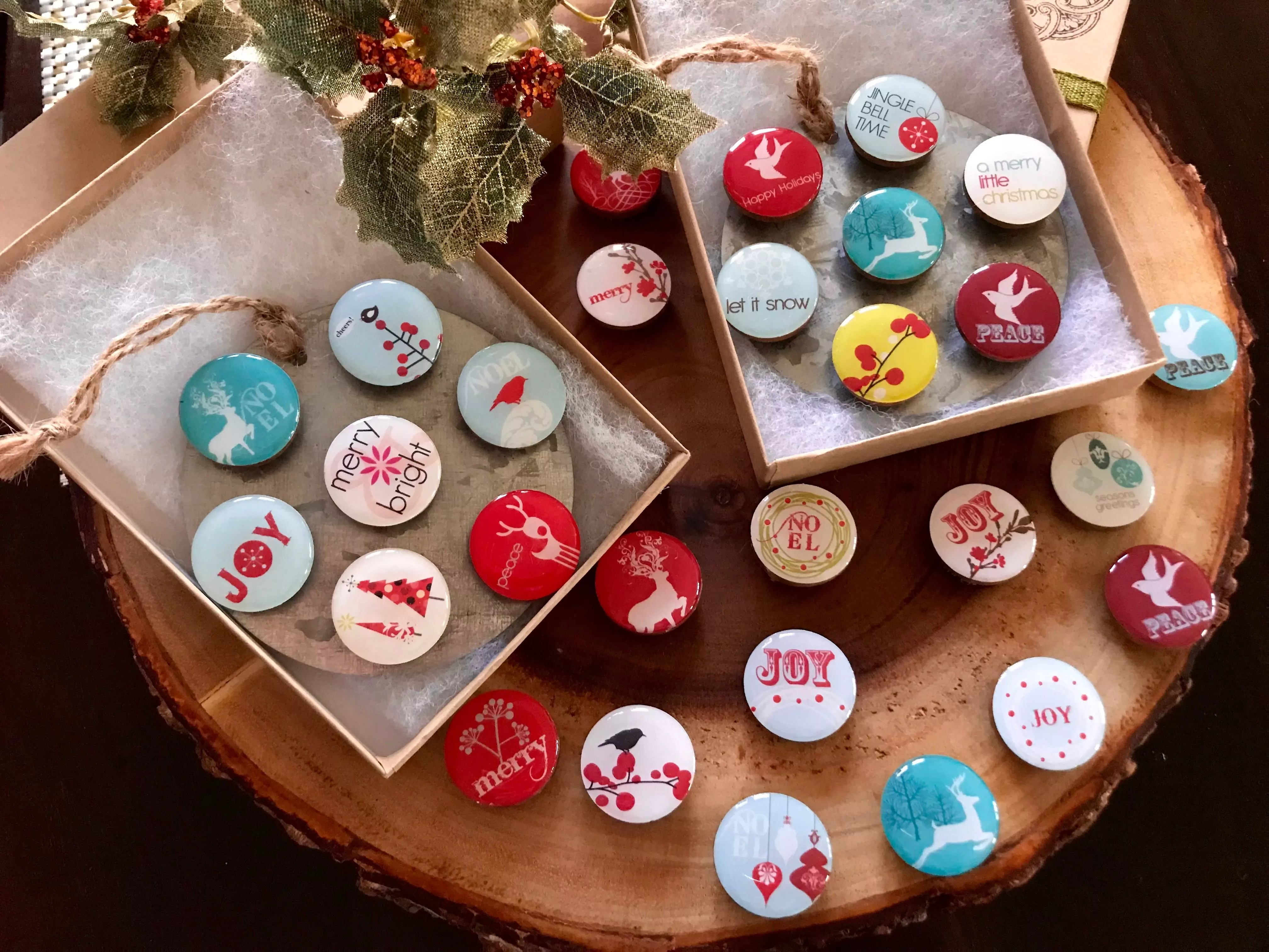 holiday resin magnets