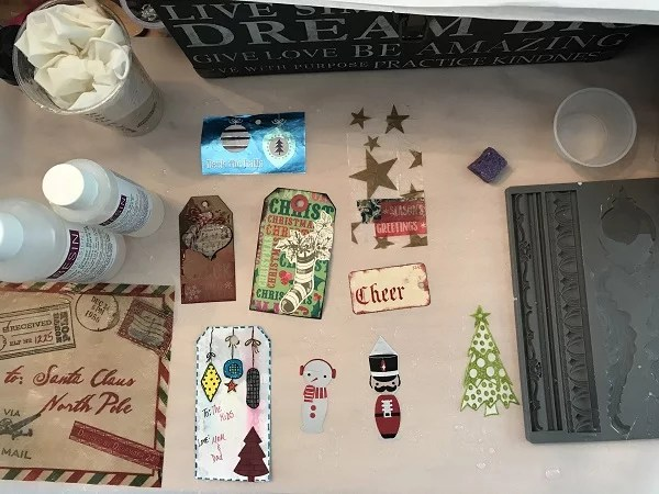 resin gift tag supplies and extra mold