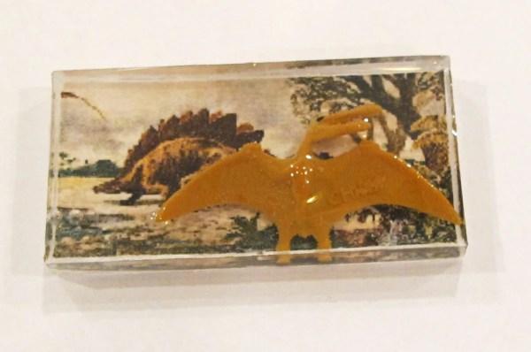 dinosaur diorama resin pendant