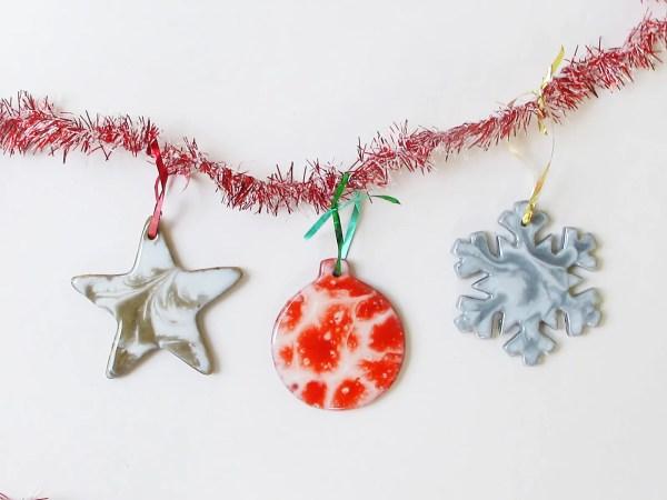 DIY resin Christmas ornaments