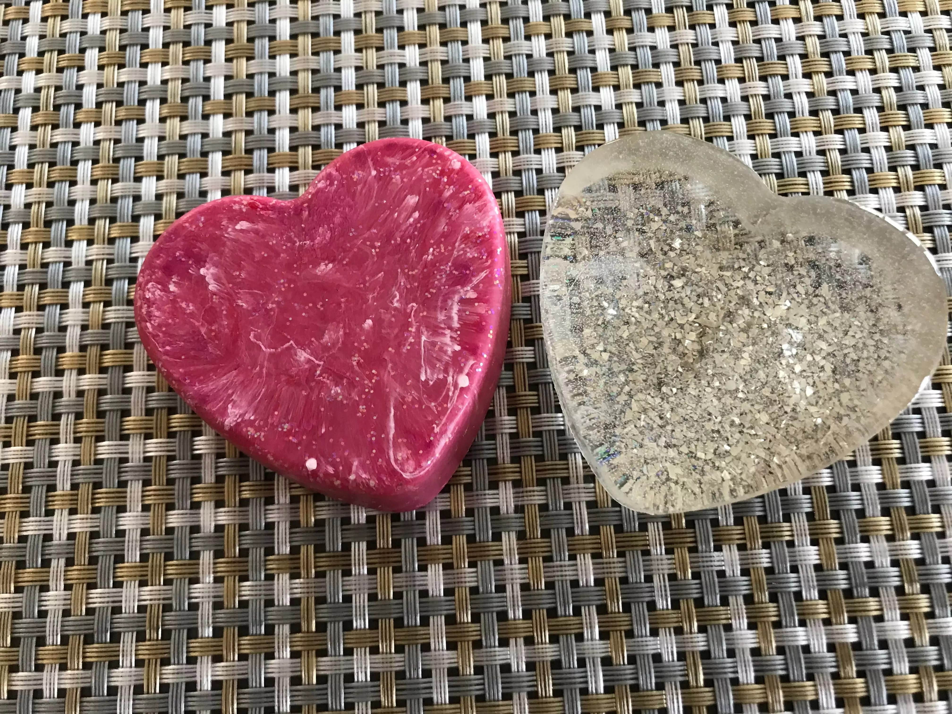 resin hearts for art projects