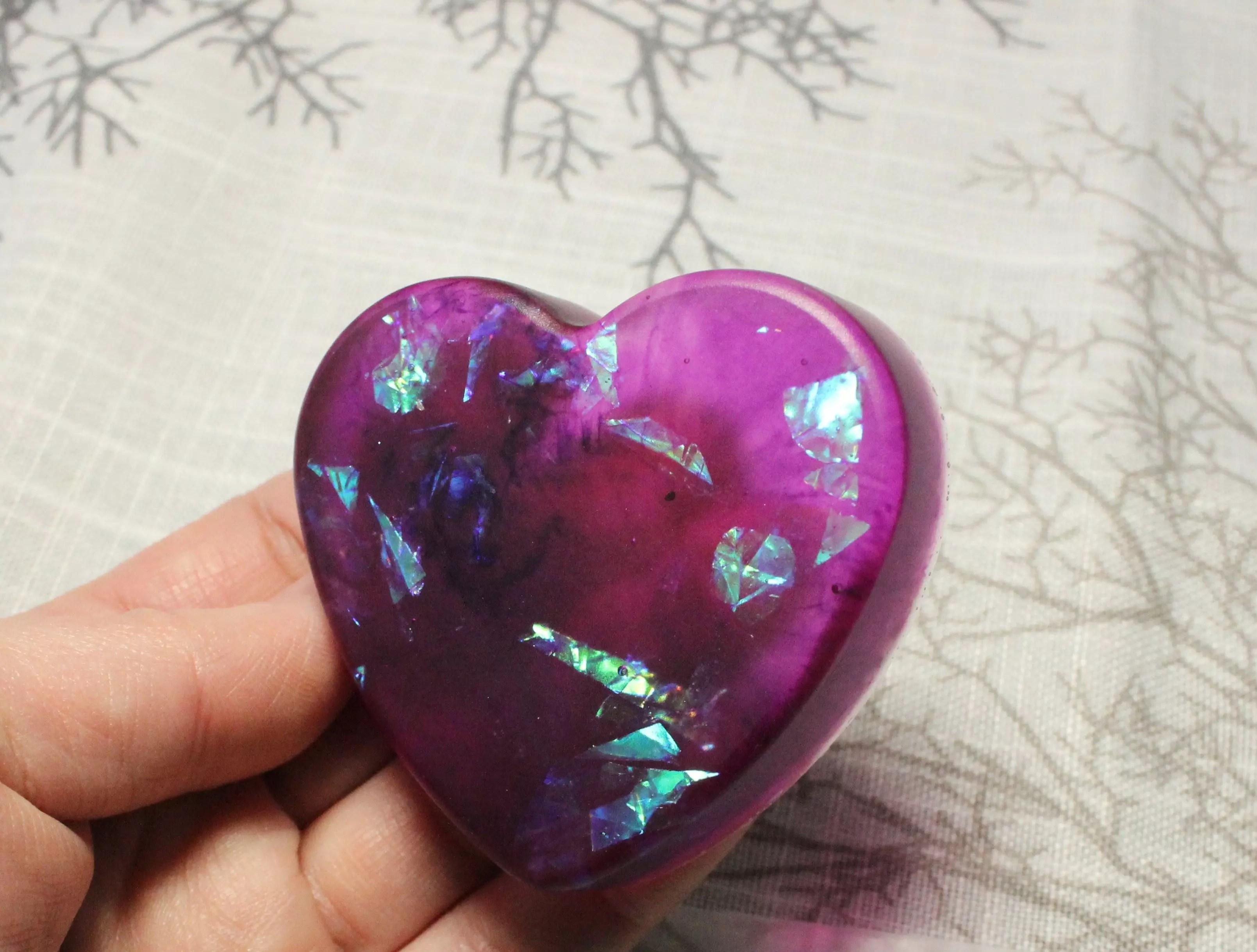 Ice Resin Colour Tint (purple) and Iridescent Confetti