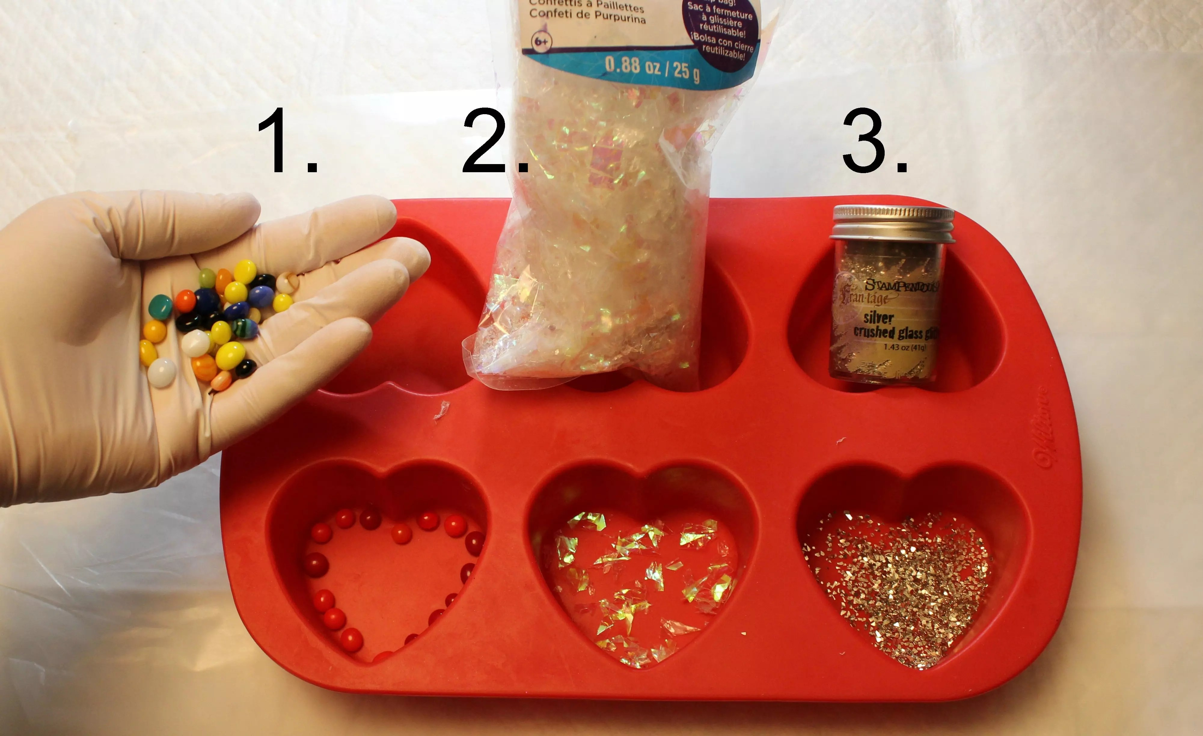 embellishments for resin hearts
