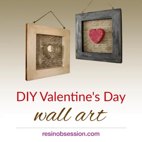 DIY Valentines Day Wall art