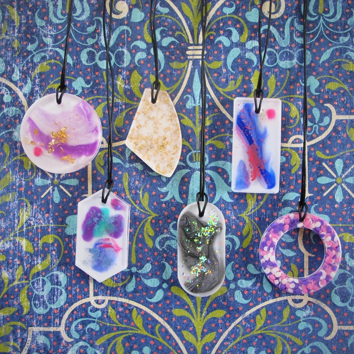 resin art pendants