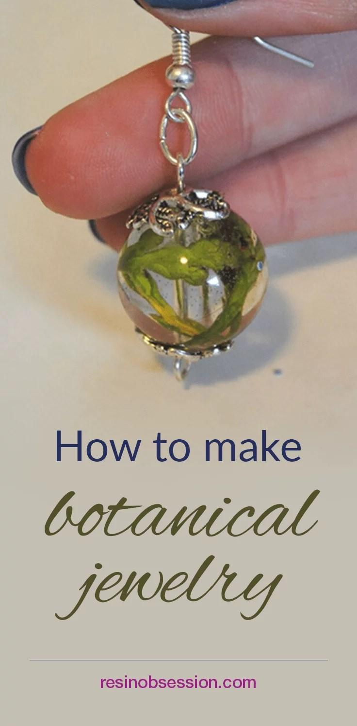 How to make botanical resin jewelry