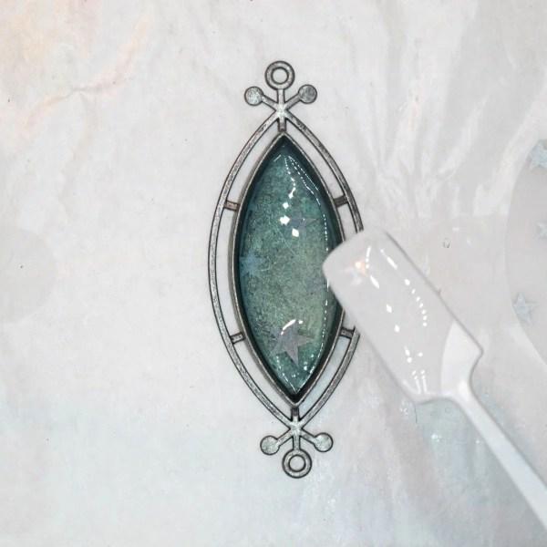 adding resin to bezel pendant