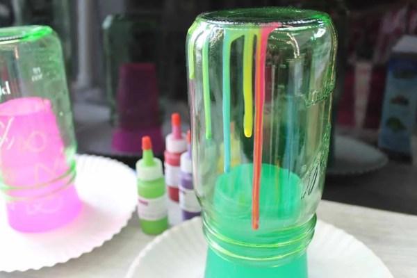 drip resin on jars