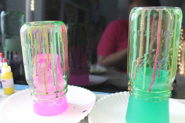 two different resin dripping methods
