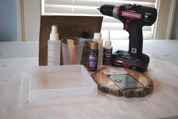 all the supplies needed for creating resin wood jewelry