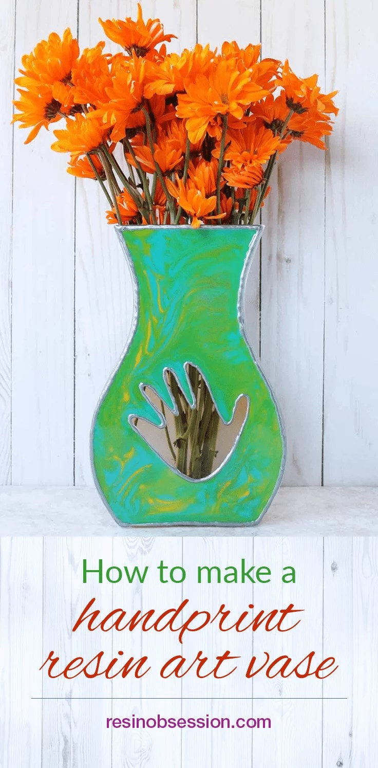 How to make a mother's day handprint resin art vase