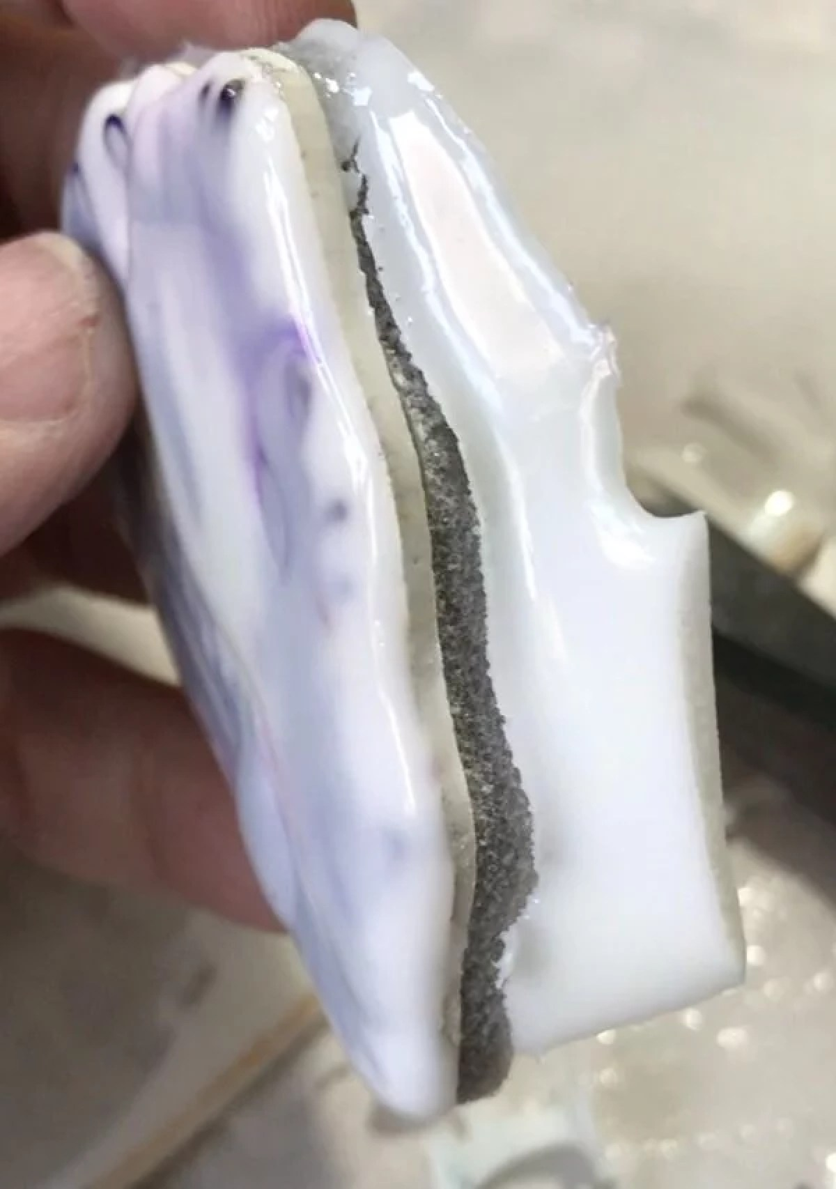pulling resin from resin stamp