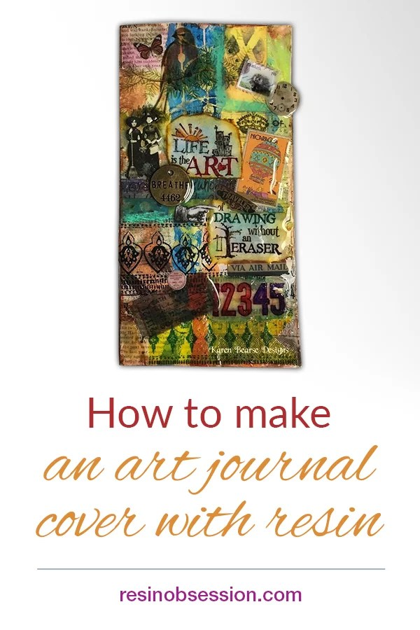 how to make an art journal with resin