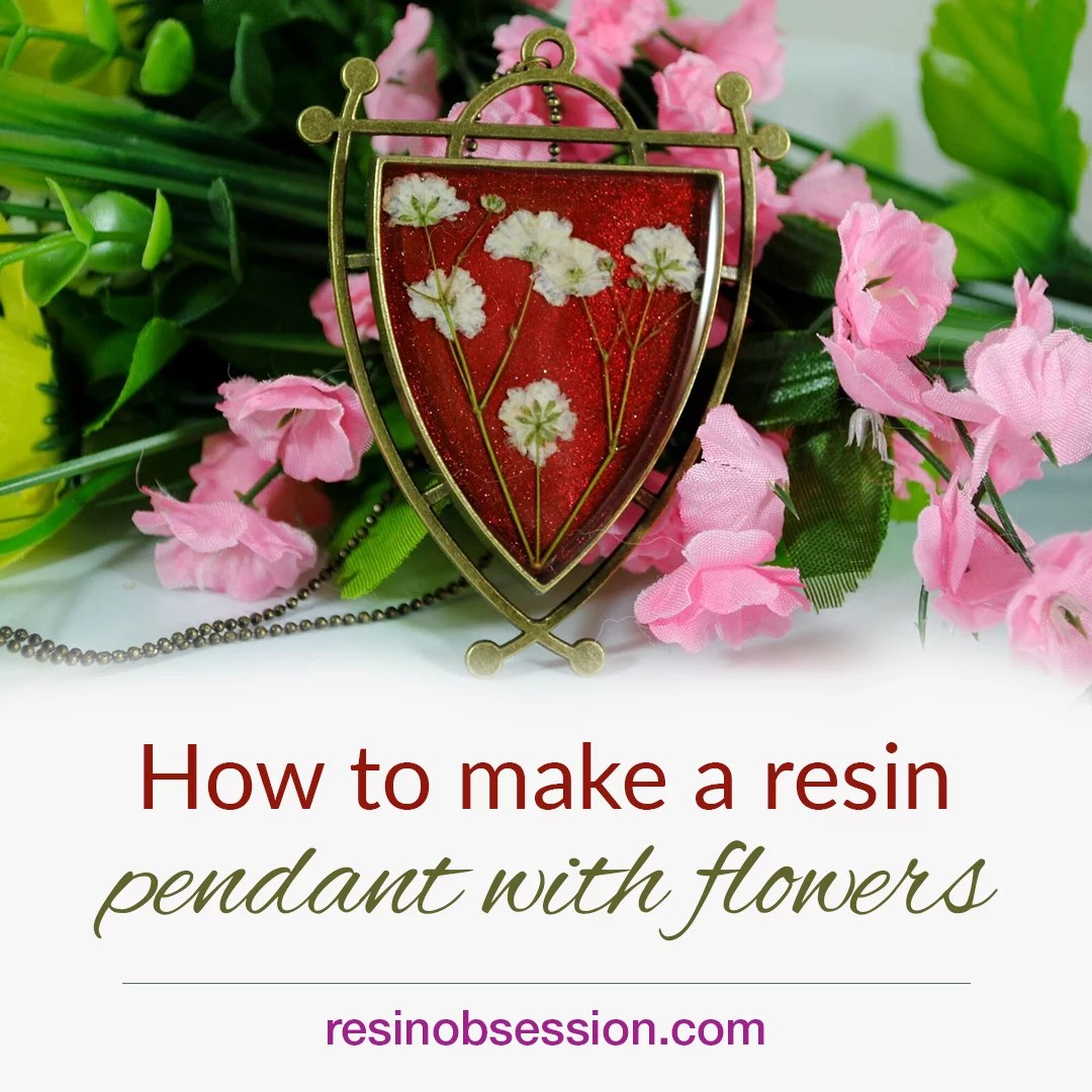 how to make resin flower jewelry