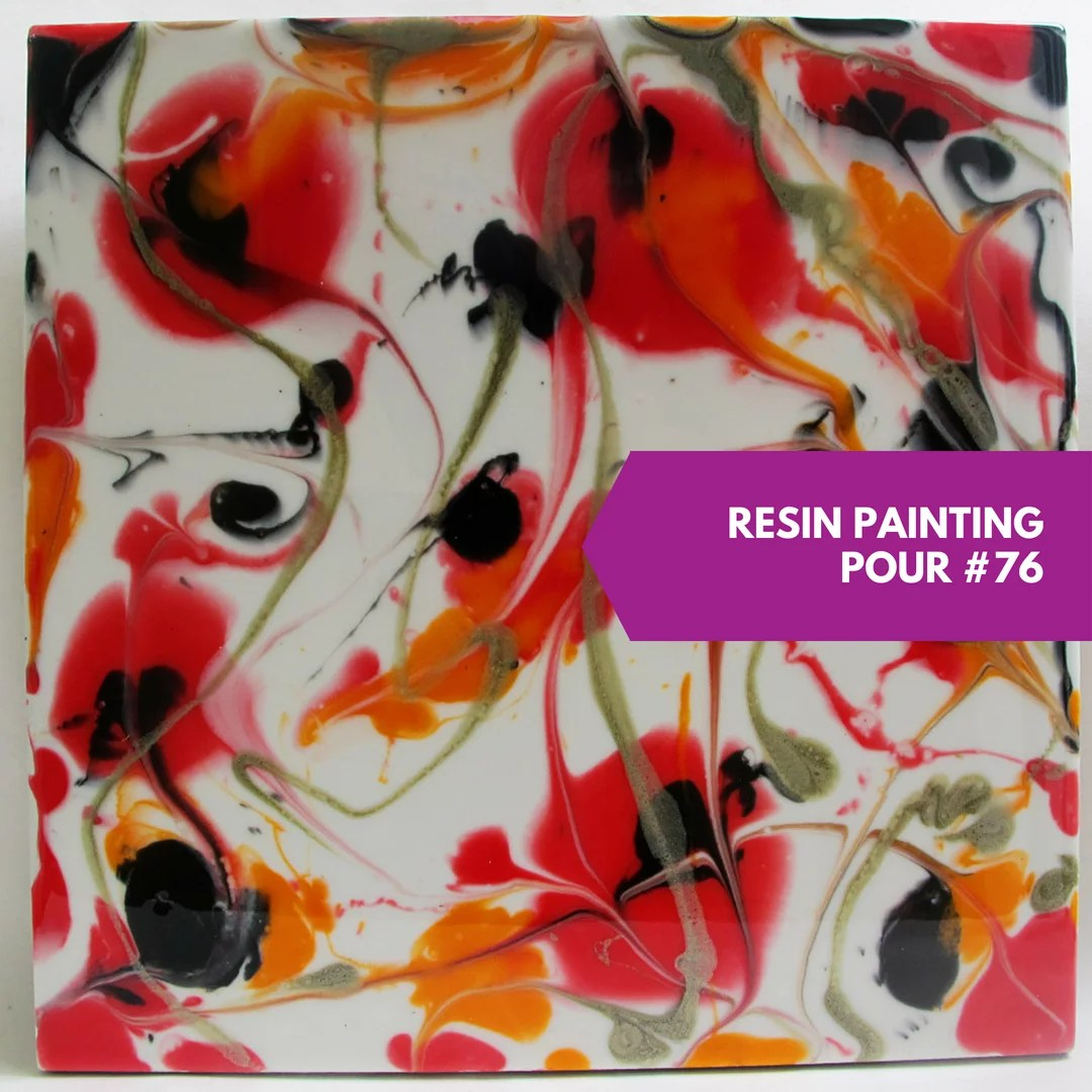 resin painting study direct pour