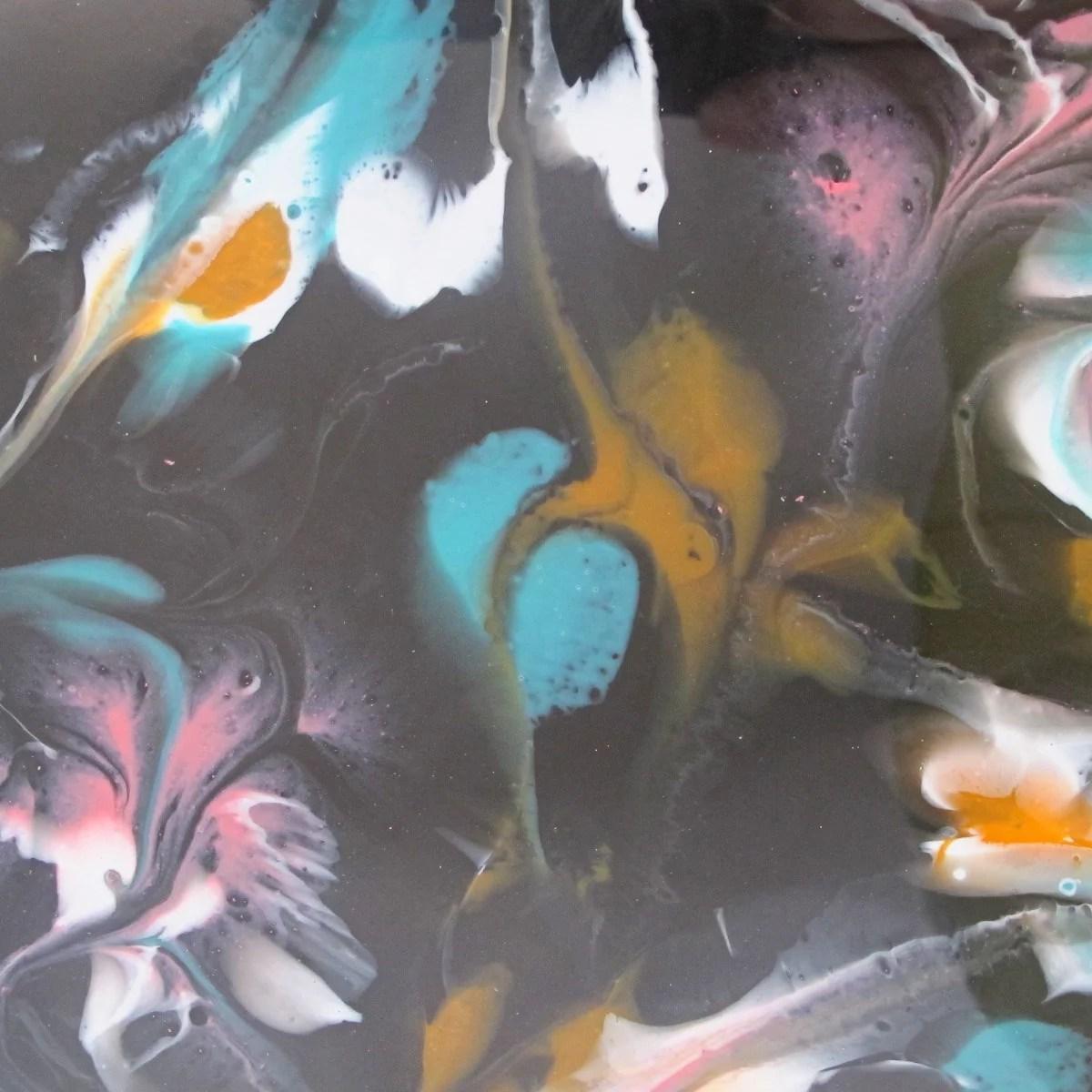 resin painting detail