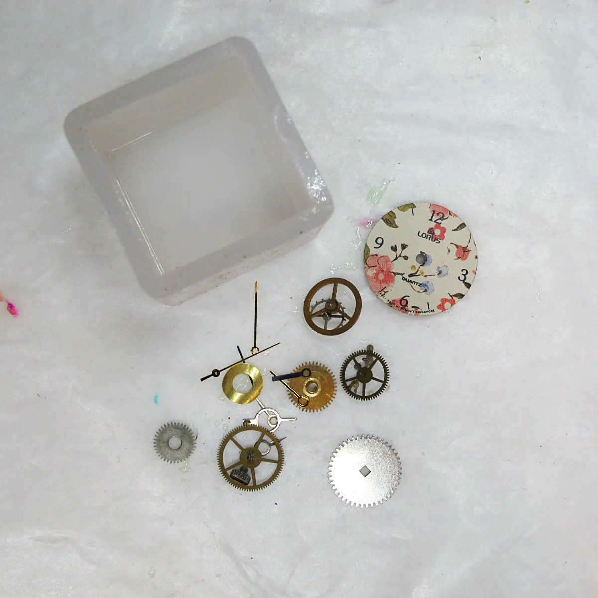 silicone mold and watch parts
