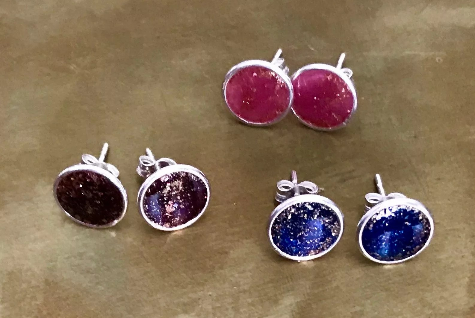 resin post earrings