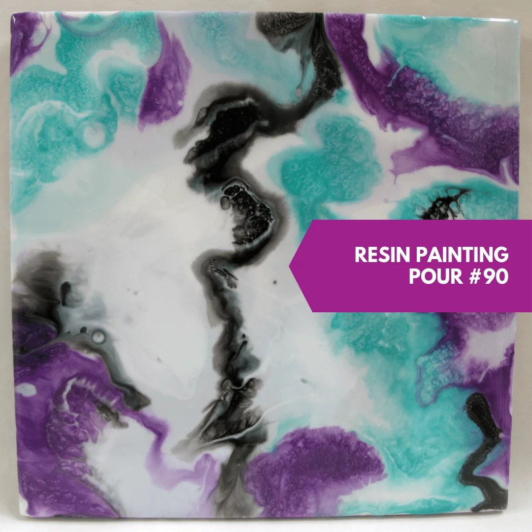 resin painting swipe direct pour