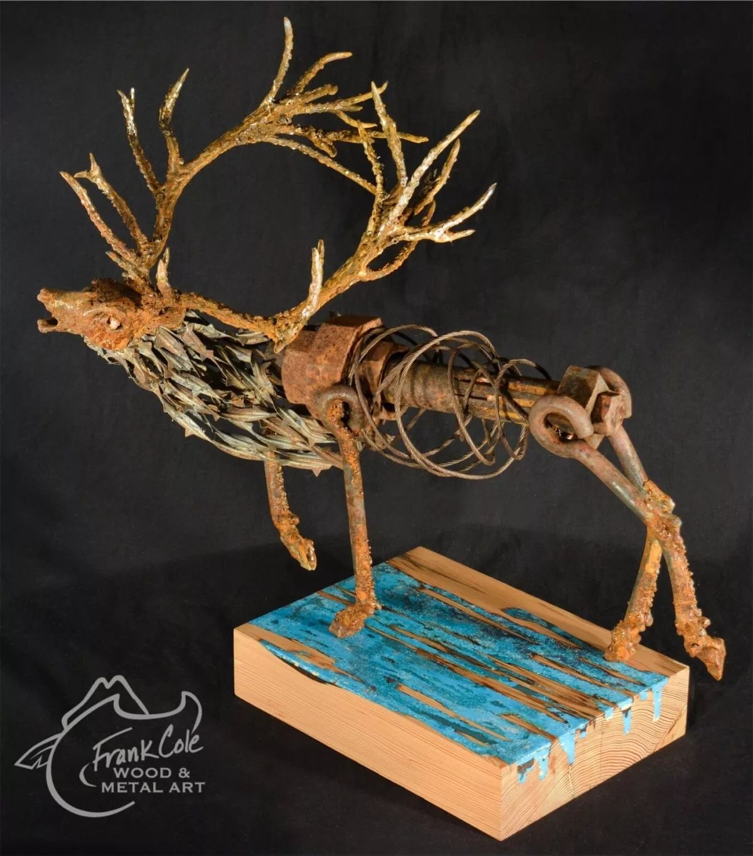 Frank Cole resin sculpture